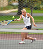 Girls High School Tennis Stock Photo