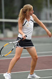 Girls High School Tennis Royalty Free Stock Image
