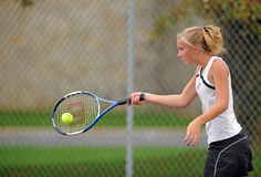 Girls High School Tennis Stock Photography
