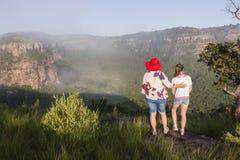 Girls Hiking Wilderness Stock Photography