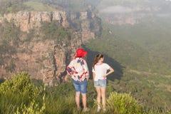 Girls Hiking Wilderness Royalty Free Stock Image
