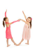 Girls holding hands Royalty Free Stock Photos