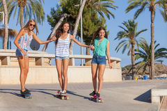 Girls on holiday in Magalluf Mallorca Stock Image