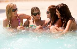 Girls on holidays Royalty Free Stock Images