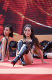 Girls hot dance Royalty Free Stock Image