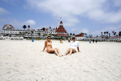 Girls, Hotel De Coronado Royalty Free Stock Photos