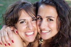 Girls Hugging Royalty Free Stock Images