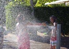 Two teenage girls having fun  Stock Images