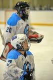 Girls ice hockey match Stock Images
