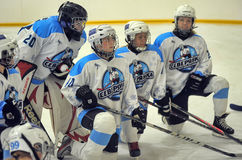 Girls ice hockey match royalty free stock photos