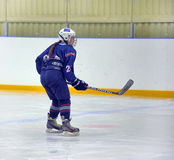 Girls ice hockey match. Children playing hockey on a city tournament St. Petersburg, Russia Royalty Free Stock Images