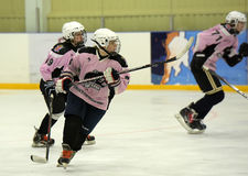 Girls ice hockey match Royalty Free Stock Image