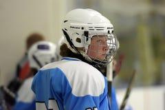 Girls ice hockey match Stock Image