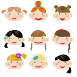 Girls icons Royalty Free Stock Photos