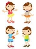 4 girls Stock Image