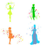 Girls in the image of seasons royalty free illustration