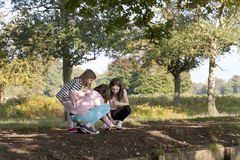 Girls Investigating Royalty Free Stock Photo