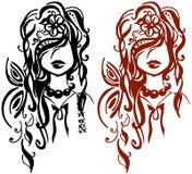 Girls. Isolated illustration eps 10 Ukrainian Beauty Royalty Free Stock Photo