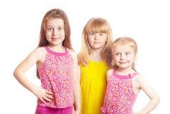 Girls isolated on white Stock Image