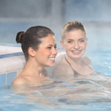 Girls in jacuzzi Stock Image