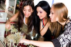 Girls and jewellerys Royalty Free Stock Image