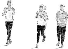 Girls jogging Royalty Free Stock Photography