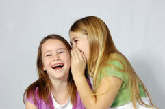 girls joke sharing Στοκ εικόνες με δικαίωμα ελεύθερης χρήσης
