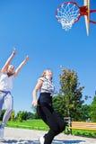 Girls jumping Stock Photos