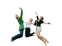 Girls jumping in the air Royalty Free Stock Image