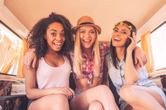 Girls just want to have fun. Royalty Free Stock Image