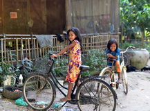 Girls from Khmer Village Royalty Free Stock Photos