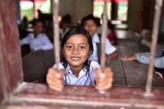 Girls from Khmer Village Royalty Free Stock Images