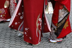 Girls in kimono Royalty Free Stock Photo