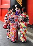 Girls in Kimonos Stock Photos