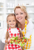 Girls in the kitchen Royalty Free Stock Image