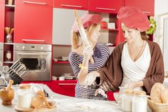 Girls in the kitchen Stock Image