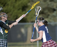 Girls Lacrosse Blocking Stock Photos