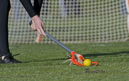 Girls Lacrosse Ground ball Stock Photography