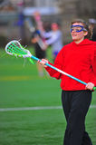 Girls lacrosse player Royalty Free Stock Photography