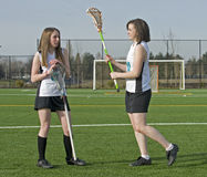 Girls lacrosse players Royalty Free Stock Photo