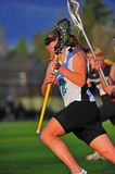 Girls Lacrosse race to the goal stock photography