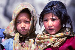 Girls in Ladakh, India Royalty Free Stock Photo