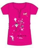 Girls / Ladies Fancy Printed Fashion Tops Illustration with print Stock Image