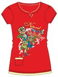 Girls / Ladies Fancy Printed Fashion Tops Illustration with print Stock Photos