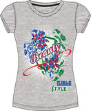 Girls / Ladies Print Illustration for T-Shirt / Tops Royalty Free Stock Photography