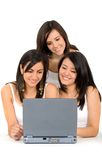 Girls on a laptop Stock Photography