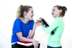 Girls Laughing at School royalty free stock photography