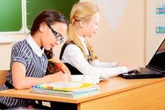 Girls learning Stock Photos