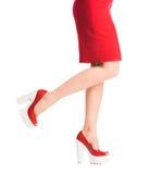 Girls legs on heels Stock Image