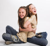 girls little two Стоковое фото RF